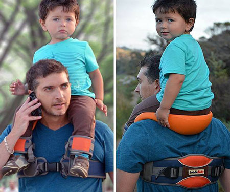 Hands-Free Kids Shoulder Carrier