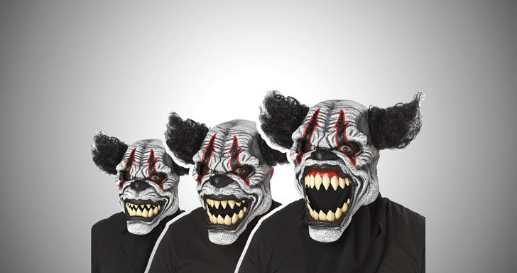 last-laugh-clown-mask - scary clown masks