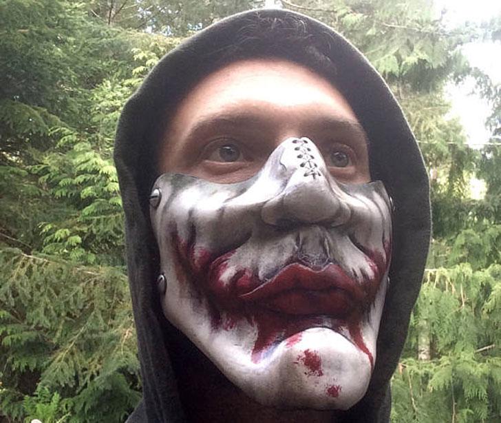 Leather Joker Mask Inspired By Heath Ledger's Joker