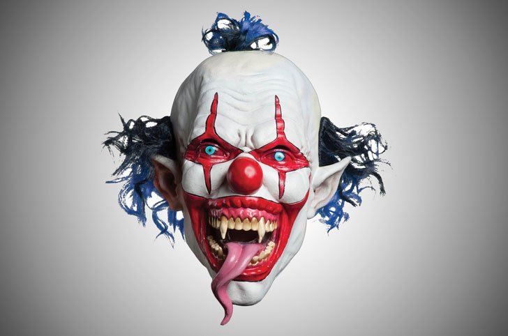 Lizard Tongue Evil Clown Mask