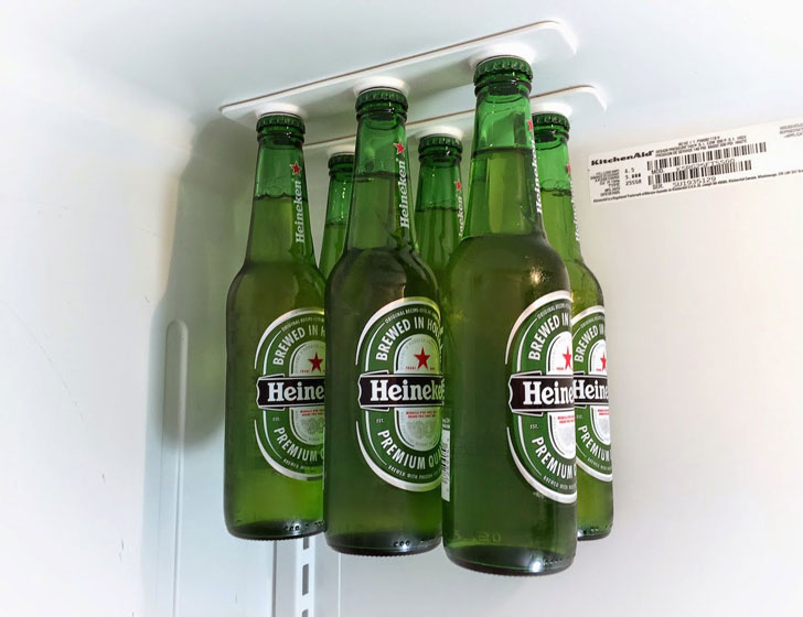 Magnetic Refrigerator Bottle Holders - bottle loft