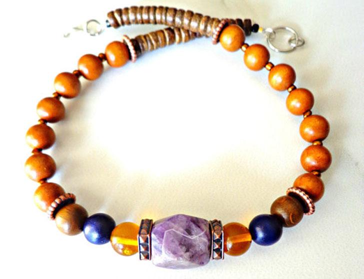 Men's Tribal Beaded Necklace
