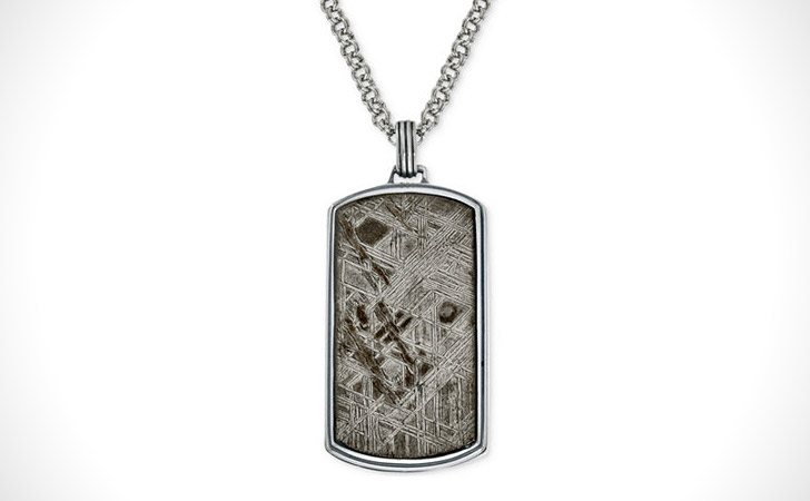 Meteorite Dog Tag Necklace