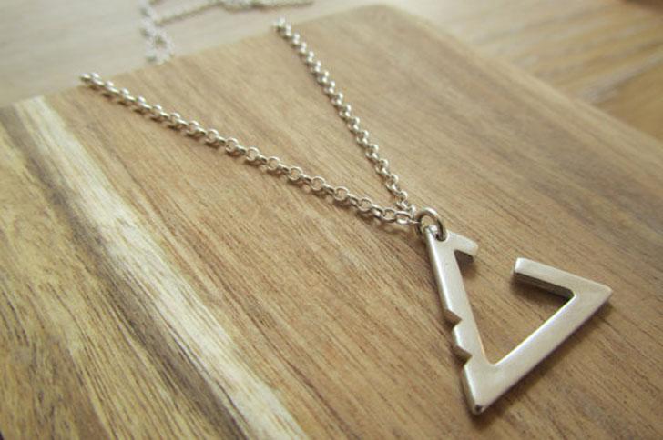 Minimalistic Geometric Surfer Style Necklace