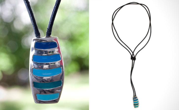 Ocean Blues Sterling Silver Necklace