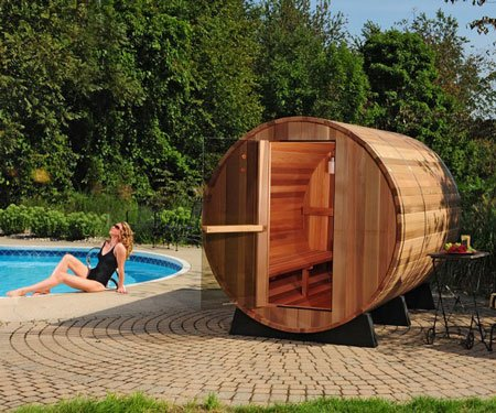 Outdoor Barrel Sauna