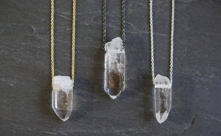 Raw Quartz Pendant Necklace