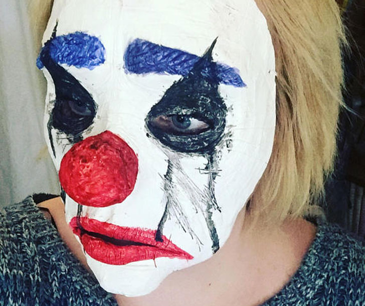 Sad Halloween Horror Mask