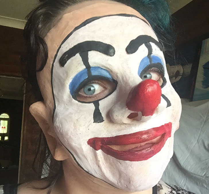 Scary Clown Puppet Mask