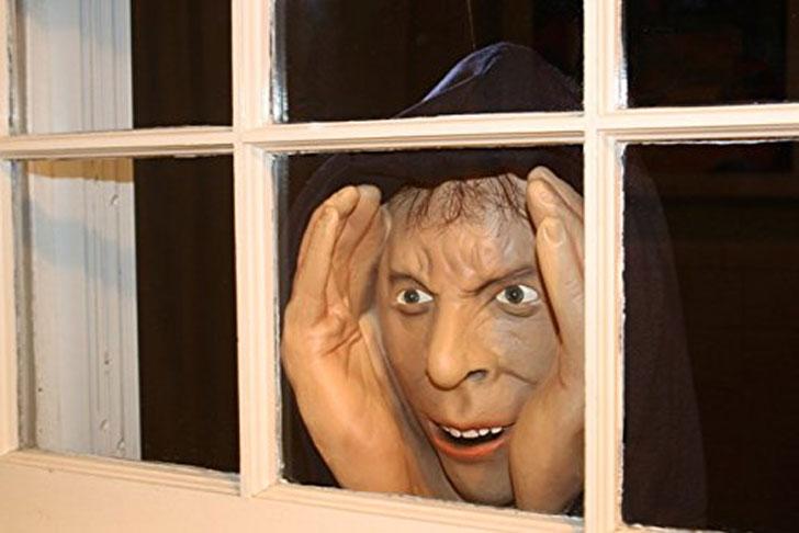 Scary Peeping Tom Window Prop