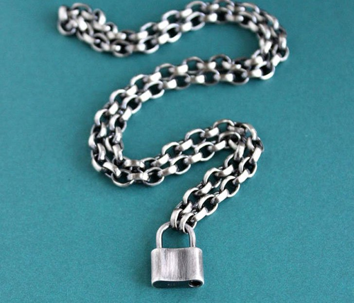chains chain padlock guys chunky solid pendant mens meaningful sterling with for necklaces silver