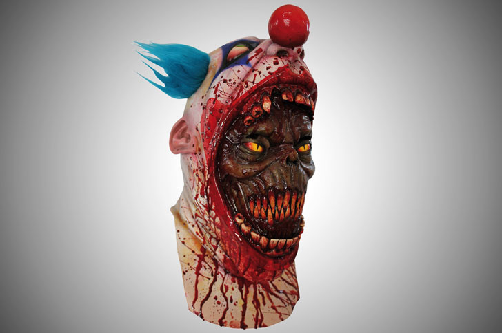 the-coulrophobia-clown-mask - scary clown masks