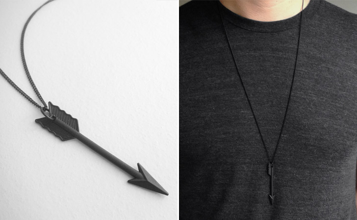 The Night Archer Black Arrow Necklace