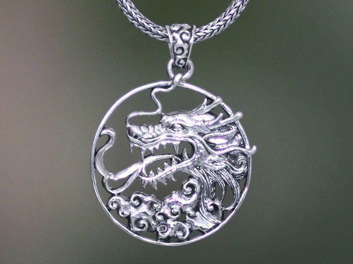 The Victorious Sterling Silver Dragon Necklace - meaningful necklaces for guys