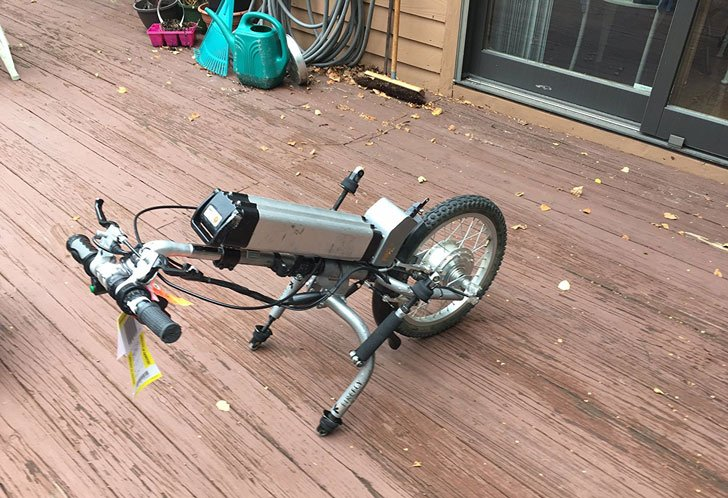 Wheelchair Bike Attachment
