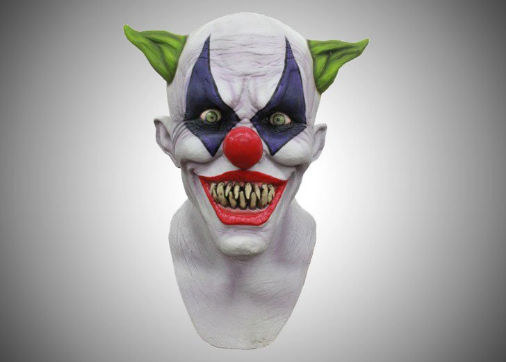 adult-creepy-giggles-clown-mask - scary clown masks