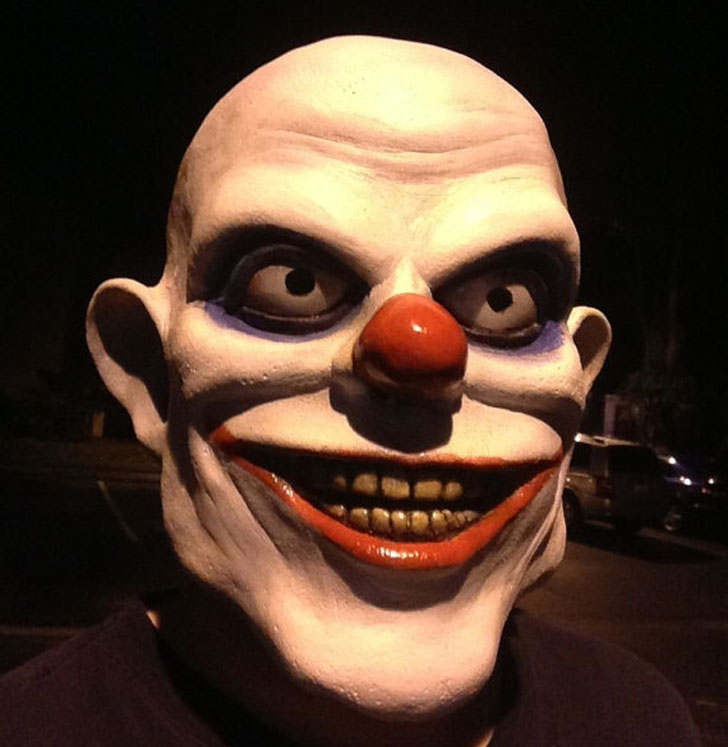 clowki the Evil Clown Mask - scary clown masks