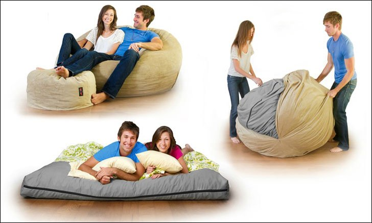 beanbag bed chair - Beanbag Bed Chair - Awesome Stuff 365