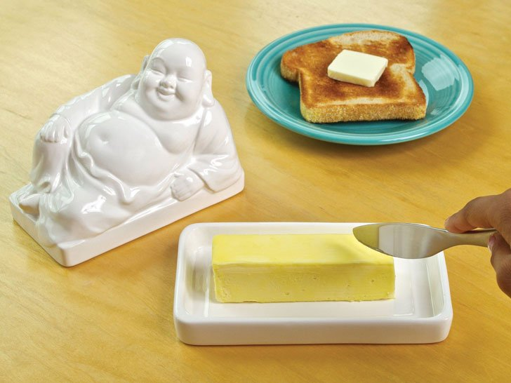 buddha butter dish - unique kitchen gadgets