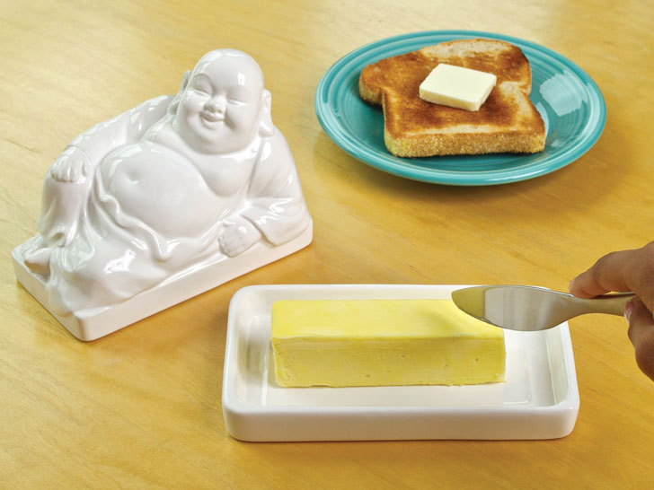 buddha butter dish - unique kitchen gadgets