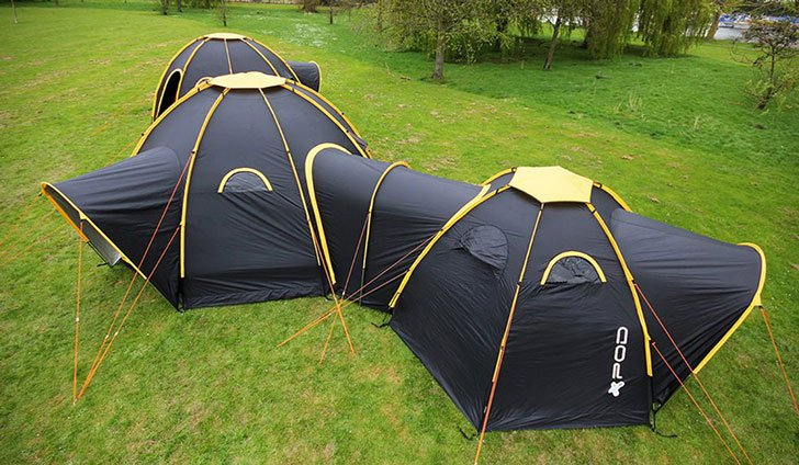 modular connecting pod tents - cool tents for camping
