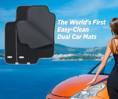 Easy-Clean Dual Car Mats