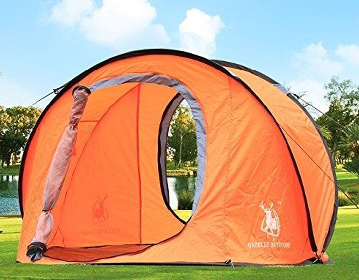 Large Pop Up Backpacking Camping Hiking Tent