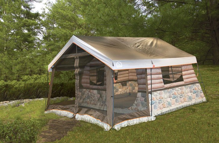 LOG CABIN TENT - AWESOME TENTS FOR CAMPING