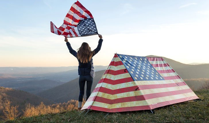 Old Glory American Flag Tent