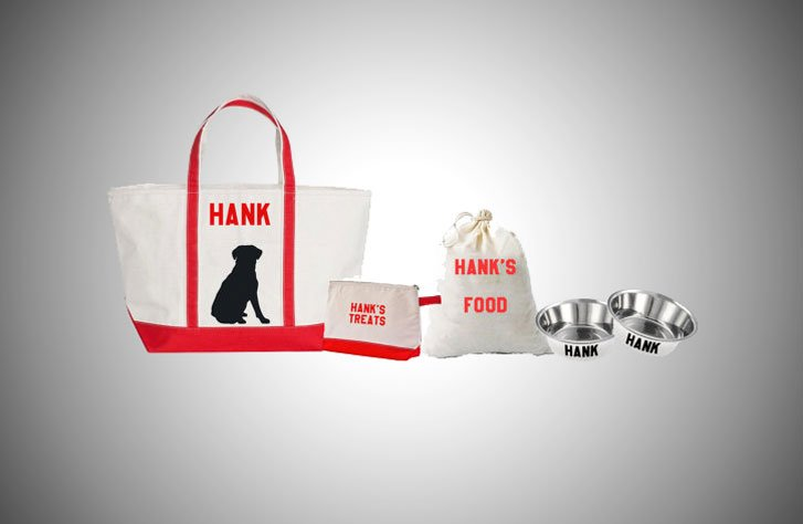 personalised dog travel bundle