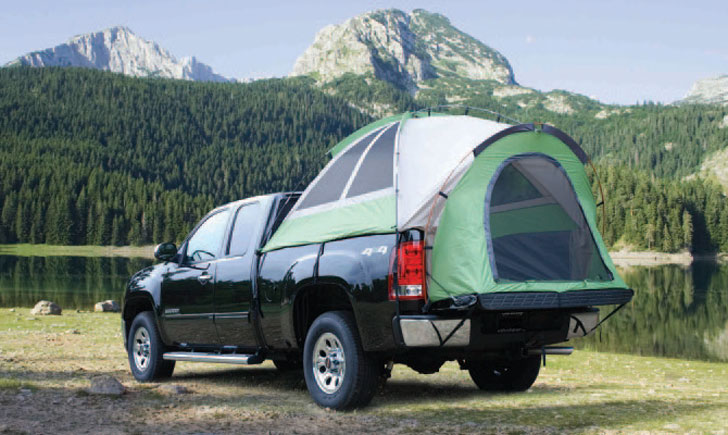 pickup truck camping bed tent awesome stuff 365. Black Bedroom Furniture Sets. Home Design Ideas