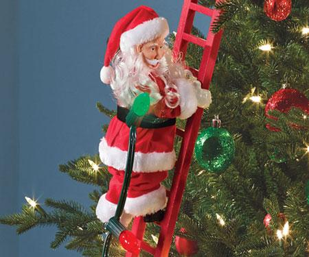 ladder Climbing Santa