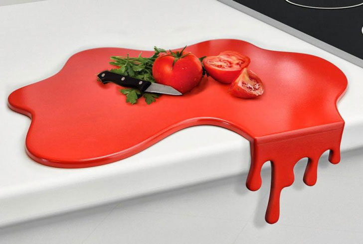 blood splatter cutting board - unique kitchen gadgets - cool cutting boards