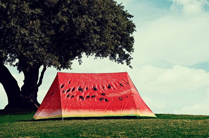 watermelon tent - cool tents for camping