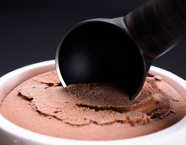 heated ice cream scoop