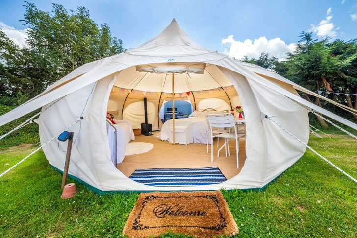Luxury Canvas Tent - awesome tents for c&ing & 40+ Cool Tents For Camping u0026 Festival Adventures - Awesome Stuff 365