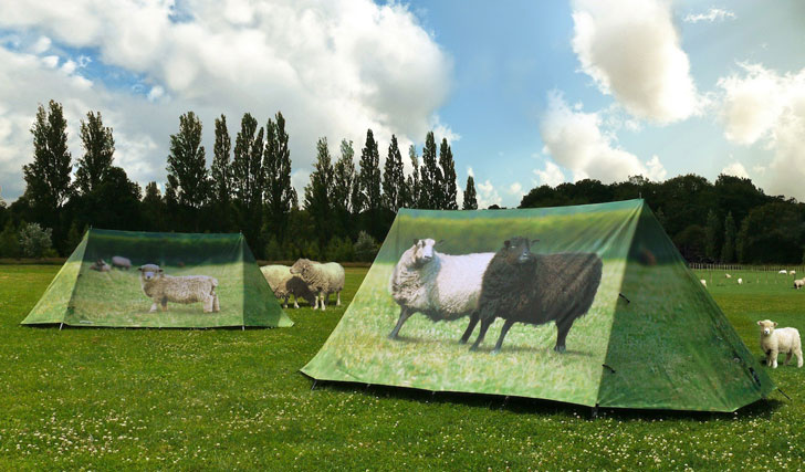 the sheep tent - cool tent for camping or a festival