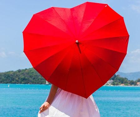 Crimson Heart Umbrella
