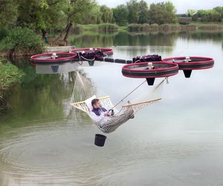Drone-Powered Hammock