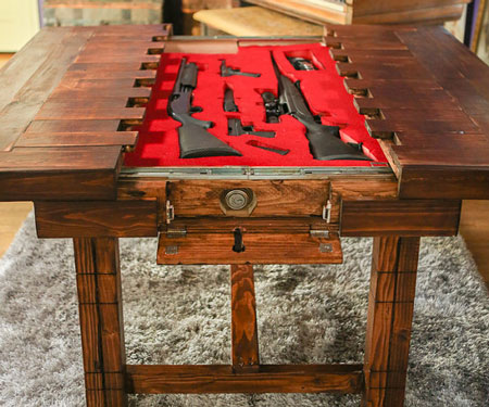 Firearm Cabinet Coffee Table