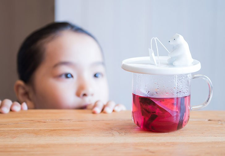 cutest te ainfuser - Fishing Polar Bear tea infuser