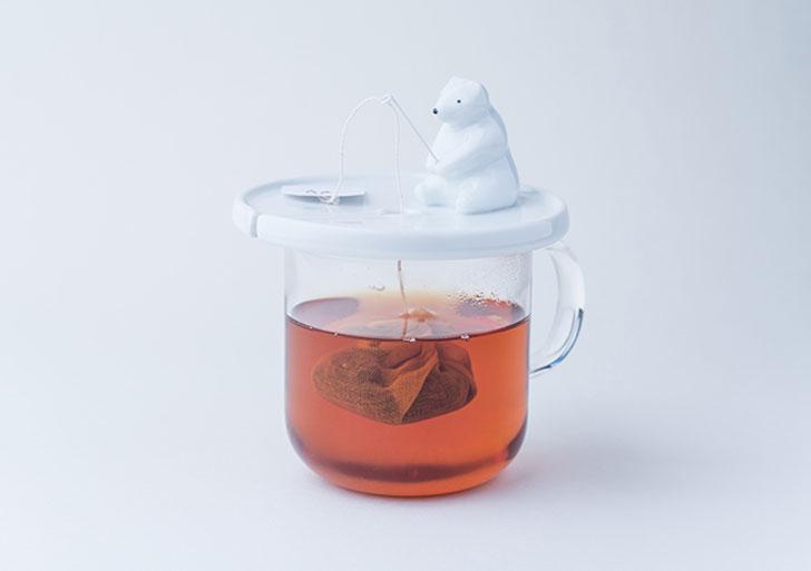 cutest tea infusers - Fishing Polar Bear tea infuser