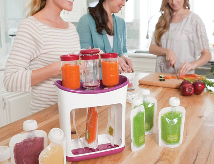 Homemade Baby Food Pouches Station