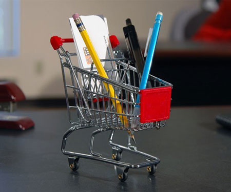 Mini Shopping Cart Desktop Organizer