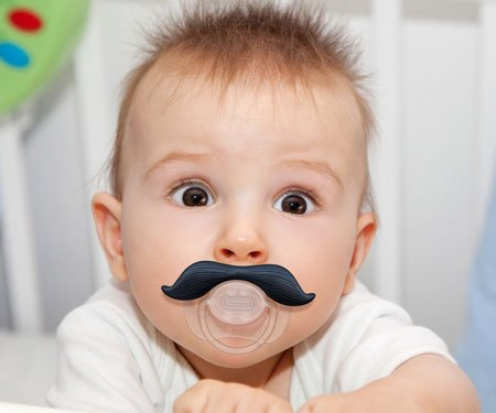 Mustache Pacifier For Babies