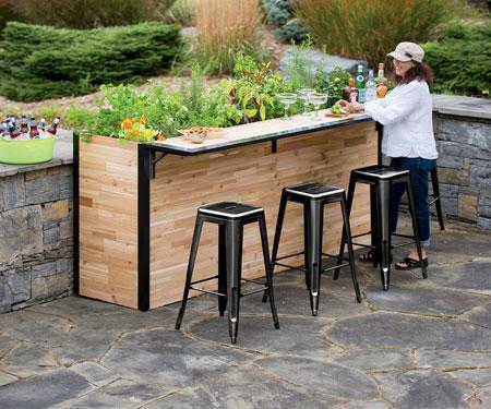 Outdoor Planter Bar