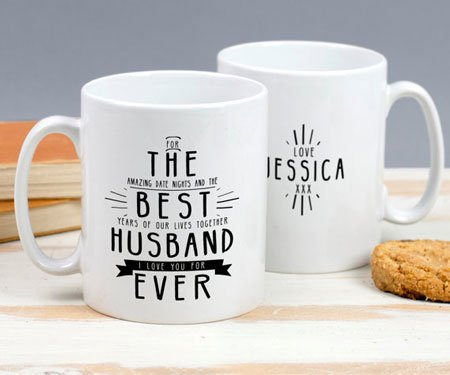 Personalized Best Husband Ever Mug