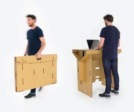 Superb Portable Fold Up Cardboard Desk