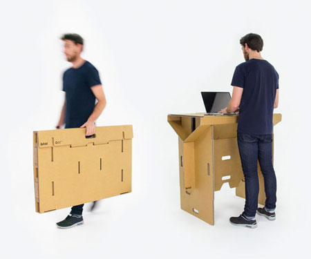 Portable Fold-Up Cardboard Desk