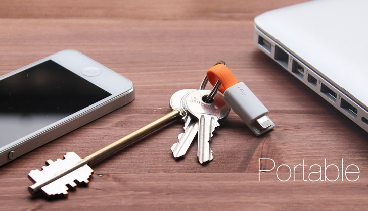 Portable Keychain Charging Cable